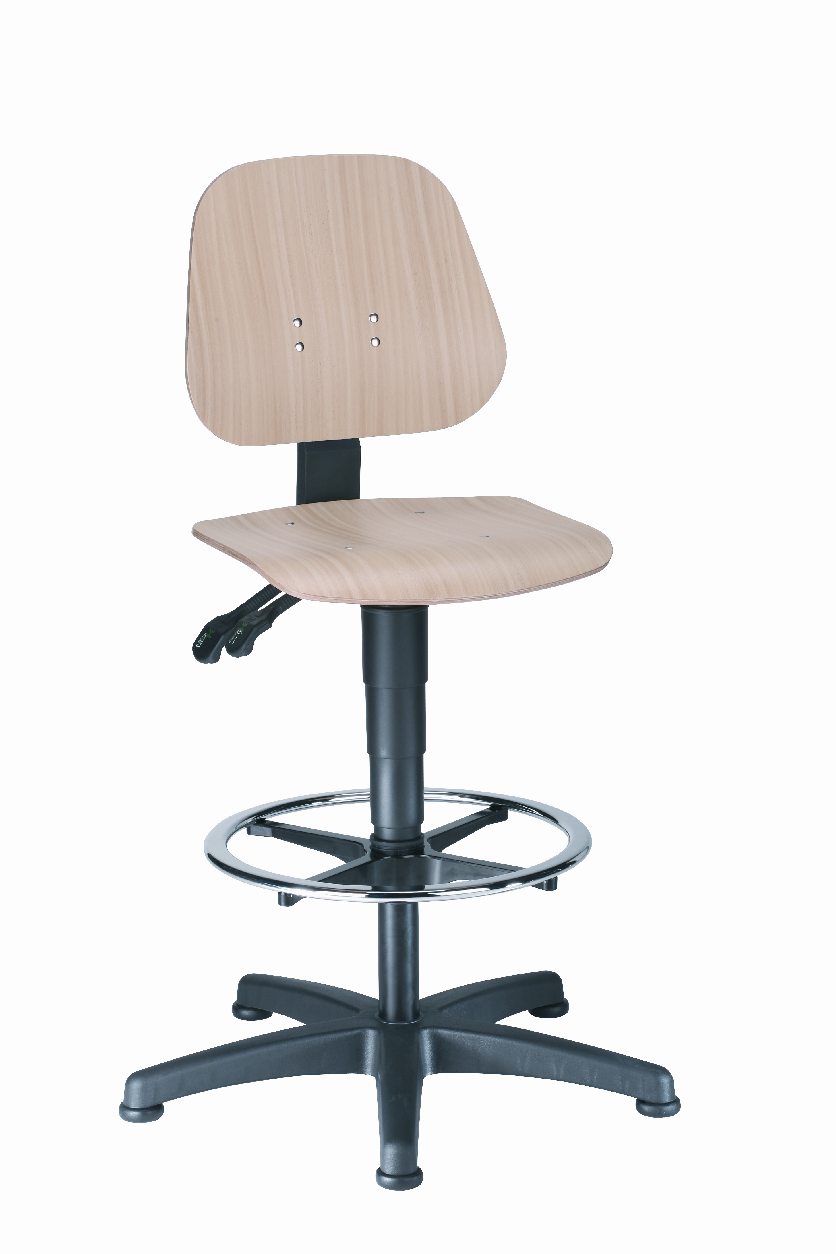 Unitec 3 Arbeitsdrehstuhl mit Gleiter und Fußring von Bimos