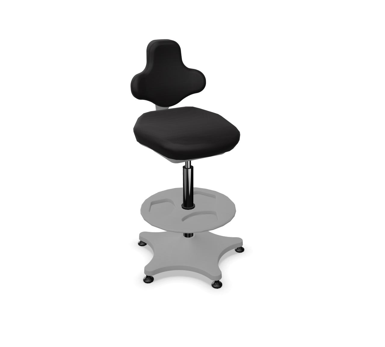 Labster 3 Labordrehstuhl mit Gleiter und Fußring von Bimos