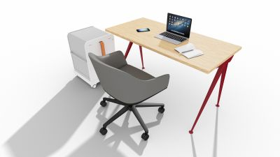 Home Office Aktionspaket Vitra mit Softshell Chair