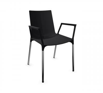 macao Stuhl Kunststoffschale mit Armlehnen von Wiesner Hager
