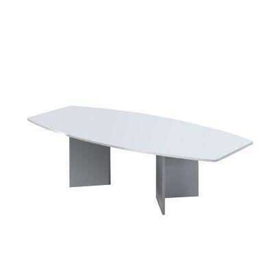 Reichenberg Konferenztisch mit silbernem Holzuntergestell Büromöbel Würzburg 280 cm x 130/85 cm