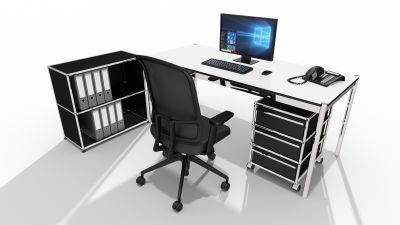 Home Office Aktionspaket USM Haller mit Am Chair